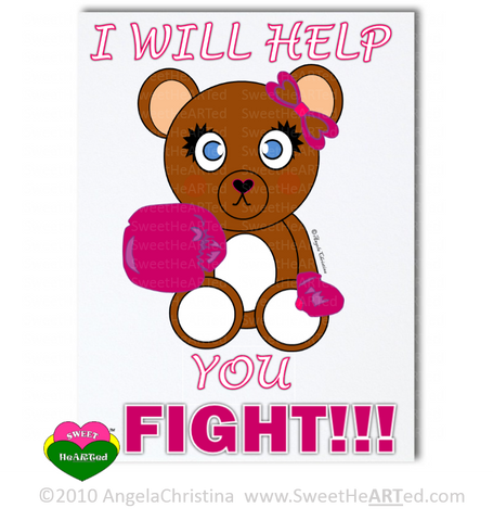 Pink- Boxing Buddies-Bear-Stationery Set