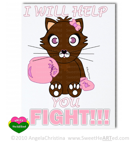 Pink- Boxing Buddies-Kitty-Stationery Set
