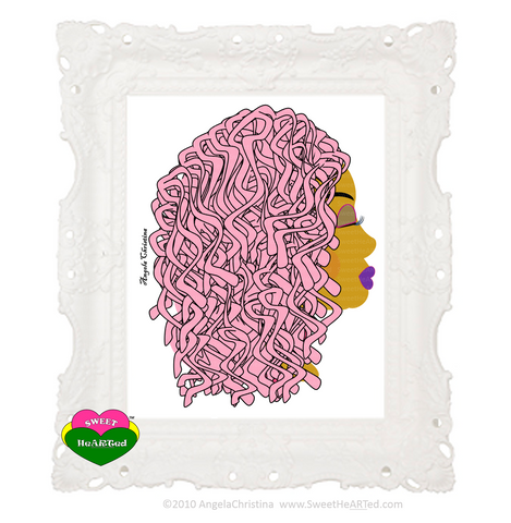 Art - Pink Locs -Cotton Candy