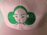 Snapback- Give Me My Puffs  (Kelly Green on Light Pink)