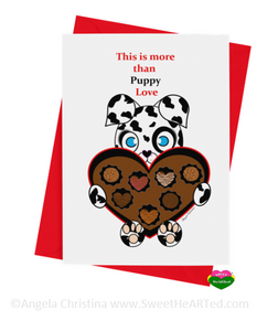 Card - Hearts of Chocolate- Puppy