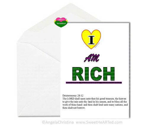 Note Card- I Am Rich