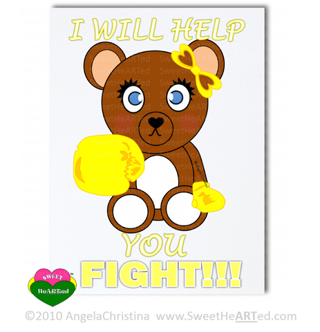 Note Cards -  Gold - Boxing Buddies-Bear