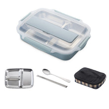 Load image into Gallery viewer, Stainless Steel  Leak-proof Lunch Box With Spoon Lunch Bento Boxes With Dinnerware Set