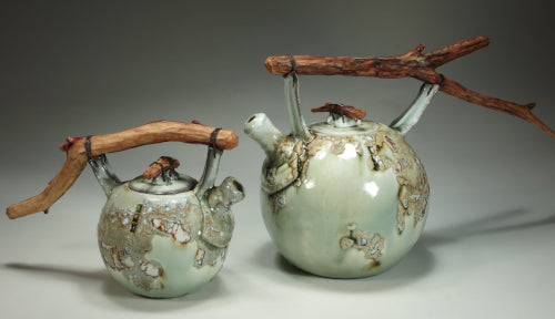 crackle teapots