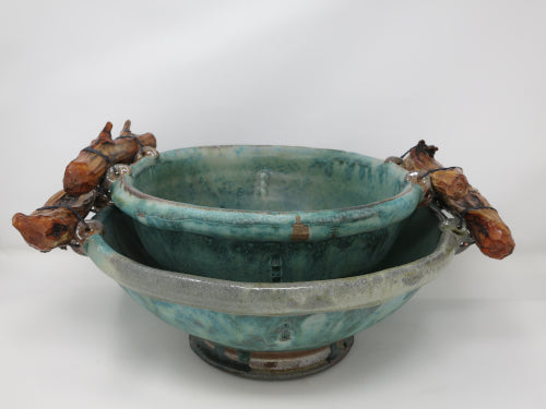 wood handled serving bowls