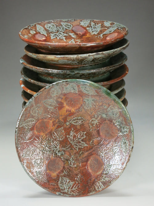 wood soda fired leaf plates