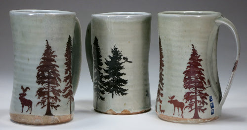 moose and squirrel mugs