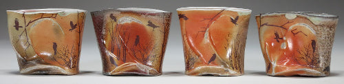 wood soda fired scotch cups