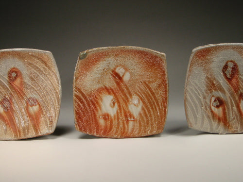 wood soda fired square plates