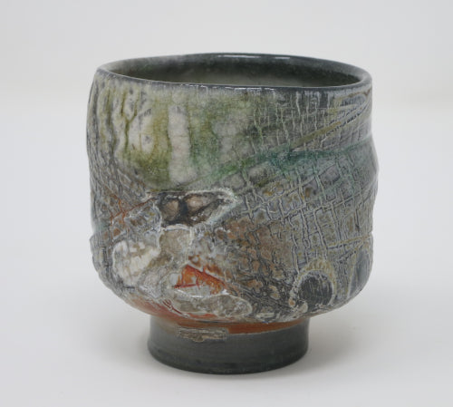 crackle tea bowl