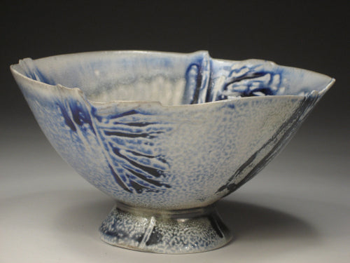 washed blue bowl