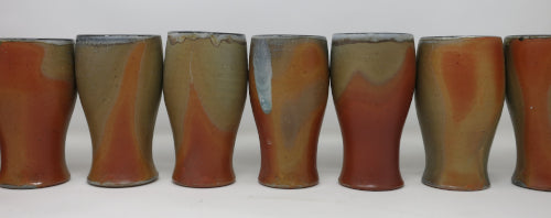 wood soda fired wine cups
