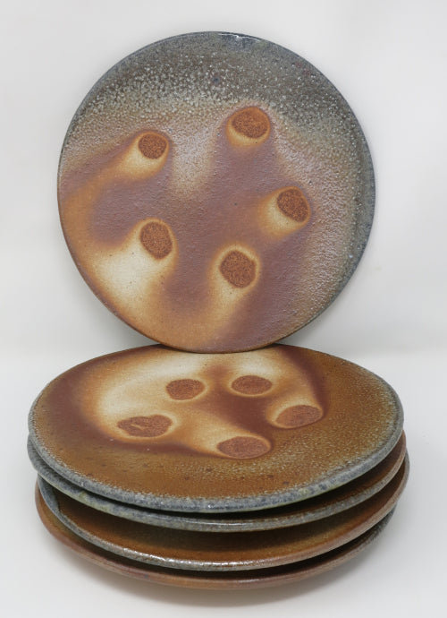 wood soda fired plates