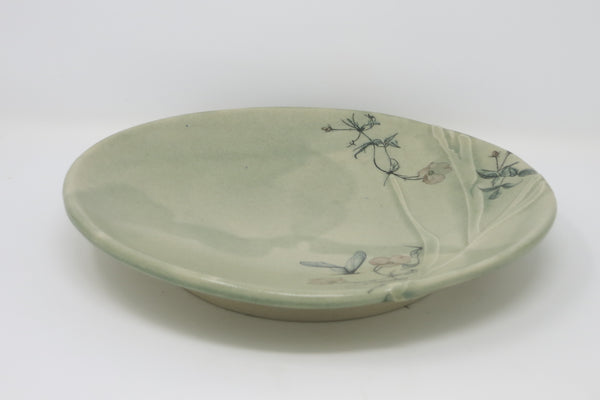 Carved Plate (Poppies & Hummingbugs)