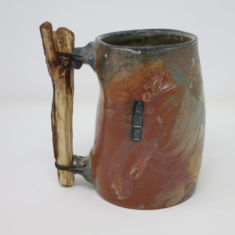 Beer Stein with Wood Handle