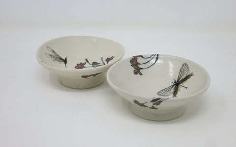 Dessert Bowl Set (Red Blossom)