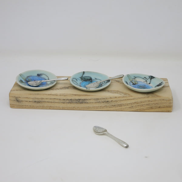 Salt Dishes (Set of 3 with Tray)