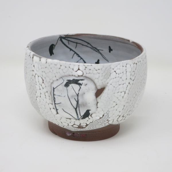 Ravens in Snow (Small Bowl)