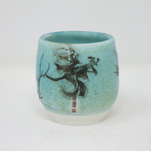 Gunomi/Sherry Cup (Lillies & Dragonflies)