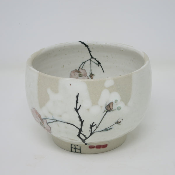 Tea Bowl (Pink Poppy)