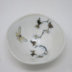 Sorbet Bowl (Orchids & Dragonfly)