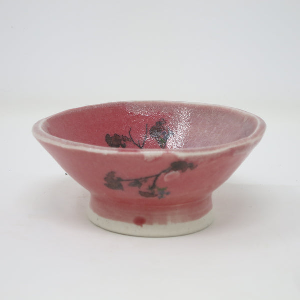 Sorbet Bowl (Red Roses & Dragonflies)