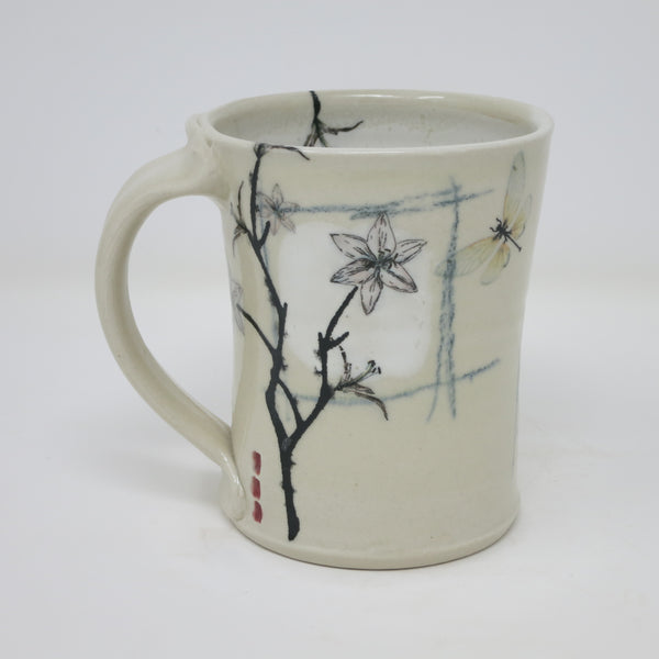 Lillies & Dragonfly Mugs