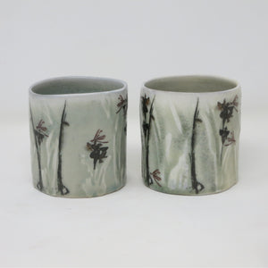 Imaged Whisky Tumblers (Orchids & Mayflies - Set of 2)