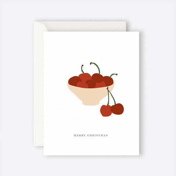 Father Rabbit Stationery | Card | MERRY CHRISTMAS CHERRIES