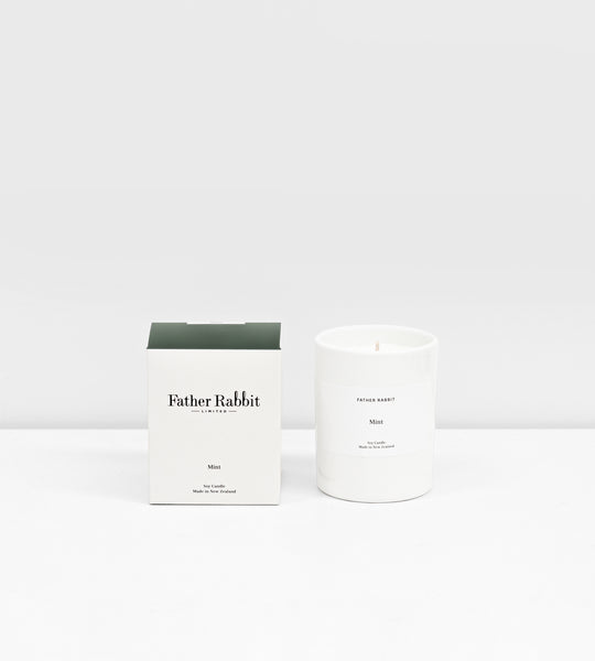 Father Rabbit | Soy Scented Candle | Mint