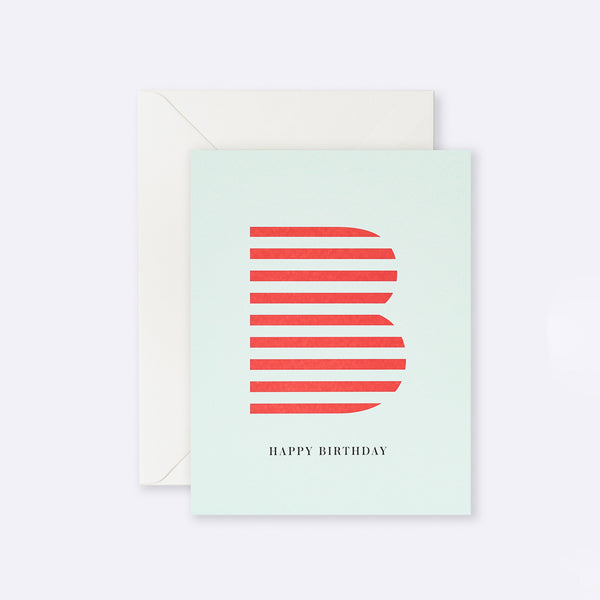 Lettuce | Card | Happy Birthday Red Stripe B