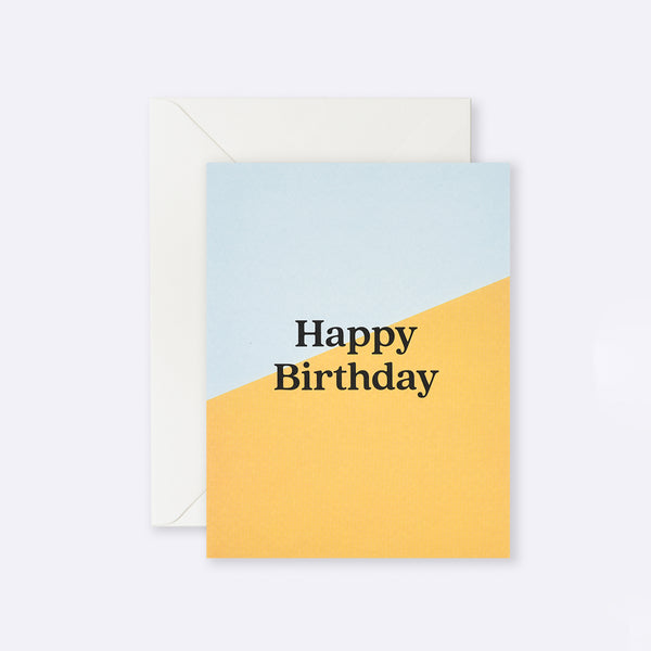 Lettuce | Card | Happy Birthday Yellow Angle