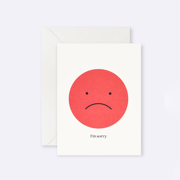 Lettuce | Card | I'm Sorry Sad Face