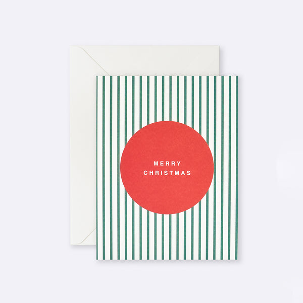 Lettuce | Card | Merry Christmas Stripe