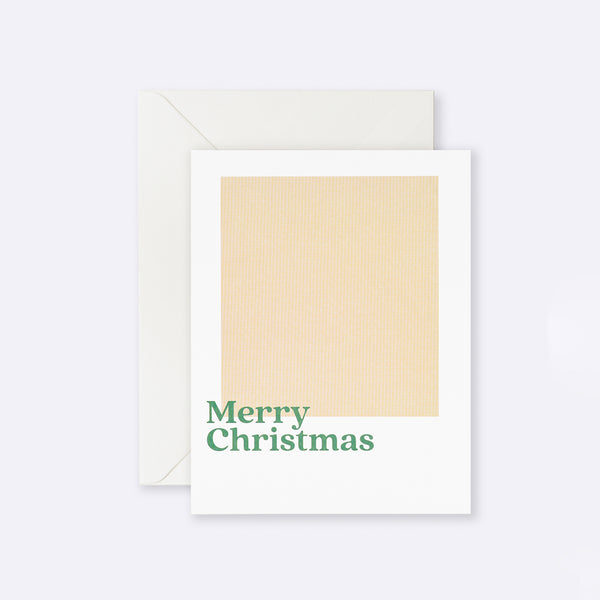 Lettuce | Card | Merry Christmas Beige Square