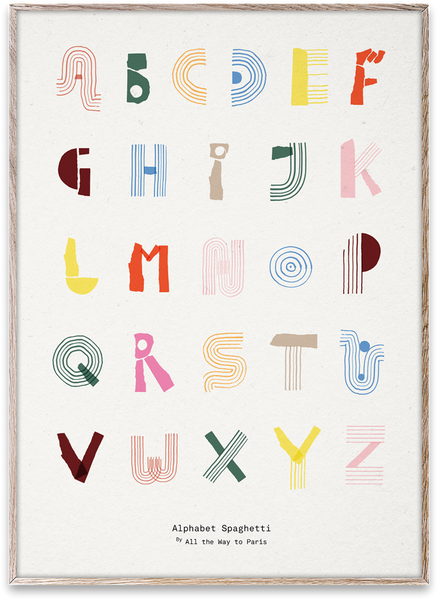 Mado | Alphabet Spaghetti ENG (multi-colour)