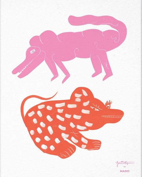 Mado | Two Creatures Pink Red