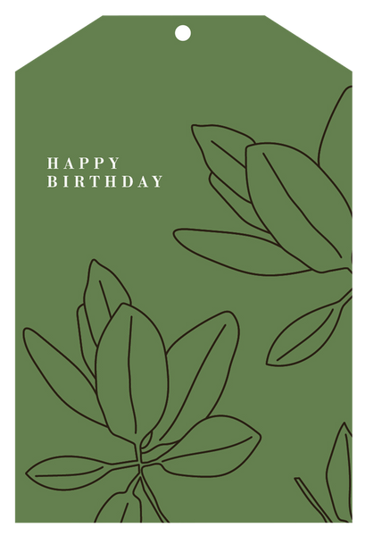 Father Rabbit Stationery | Gift Tag | Green Happy Birthday