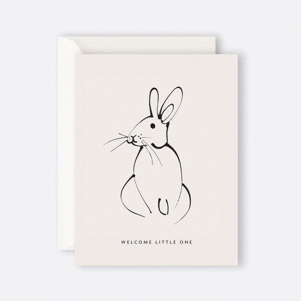 Father Rabbit Stationery | Card | WELCOME LITTLE ONE RABBIT