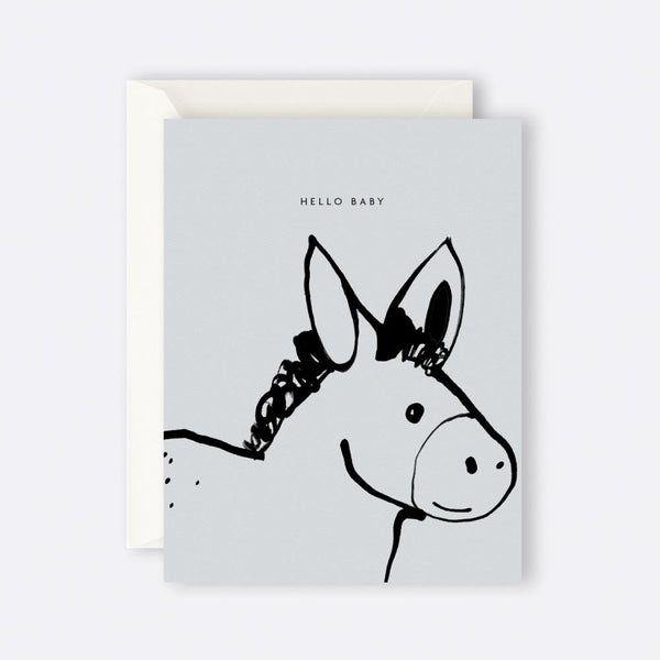 Father Rabbit Stationery | Card | HELLO BABY DONKEY