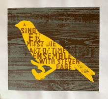 Load image into Gallery viewer, A Singer Must Die Screen Printed Poster - signed / hand numbered