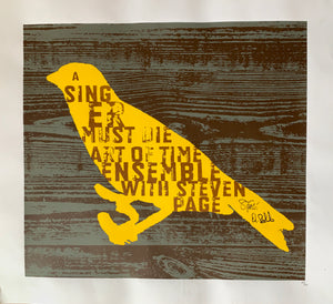 A Singer Must Die Screen Printed Poster - signed / hand numbered