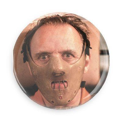 Hannibal Lecter Button - TheOriginalUnderground