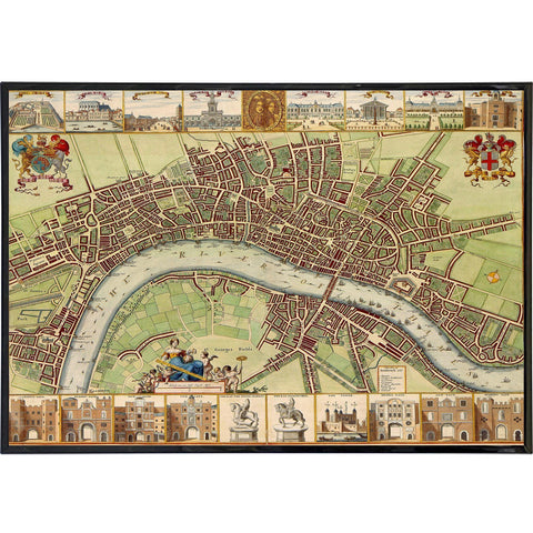 17th Century Map of London - Bishopsgate Print - Falstaff Trading / Nerd culture, Horror, B-movies, cult classic - uniquely cool / falstafftrading.com
