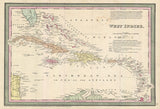 1850 Map of Cuba and West Indies Print - Falstaff Trading / Nerd culture, Horror, B-movies, cult classic - uniquely cool / falstafftrading.com