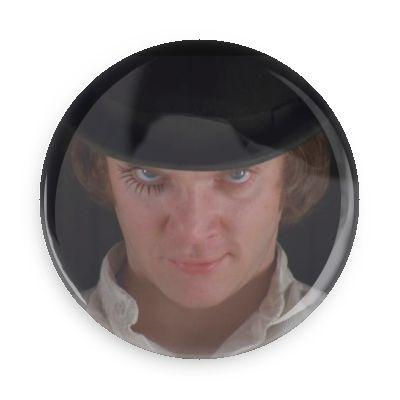 Alex DeLarge Button - Falstaff Trading / Nerd culture, Horror, B-movies, cult classic - uniquely cool / falstafftrading.com