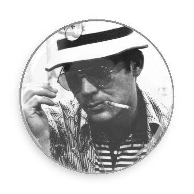 Hunter S. Thompson Button - TheOriginalUnderground