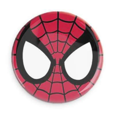 Spiderman Button - TheOriginalUnderground