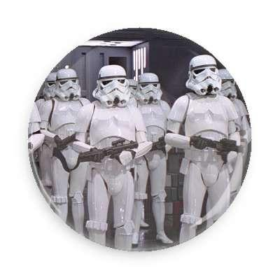 Storm Troopers Button - TheOriginalUnderground